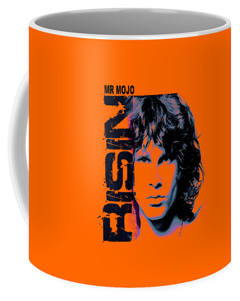 The Doors Coffee Mug featuring the digital art Mr Mojo Risin by Mal Bray