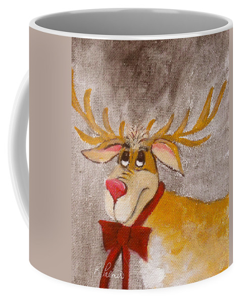 Animals Coffee Mug featuring the painting Mr Reindeer by Ruth Palmer
