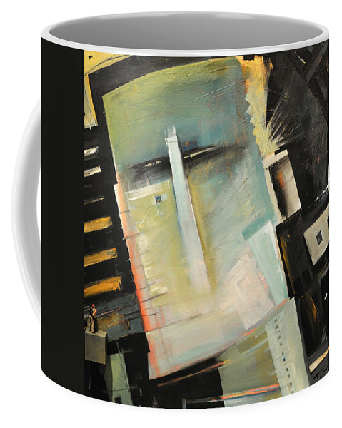 Robot Coffee Mug featuring the painting Mr. Roboto by Tim Nyberg