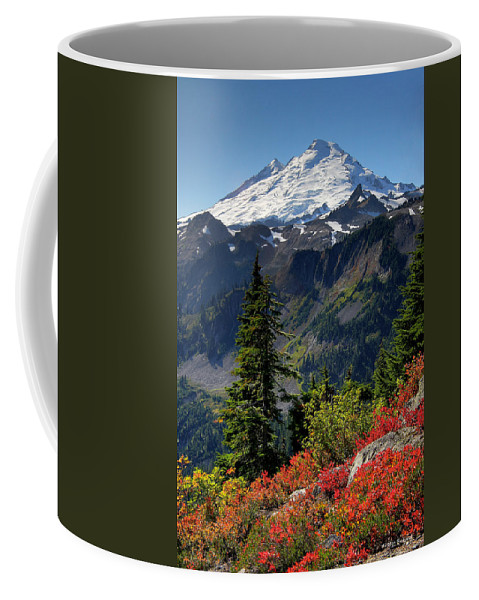 Mountain Coffee Mug featuring the photograph Mt. Baker Autumn by Winston Rockwell