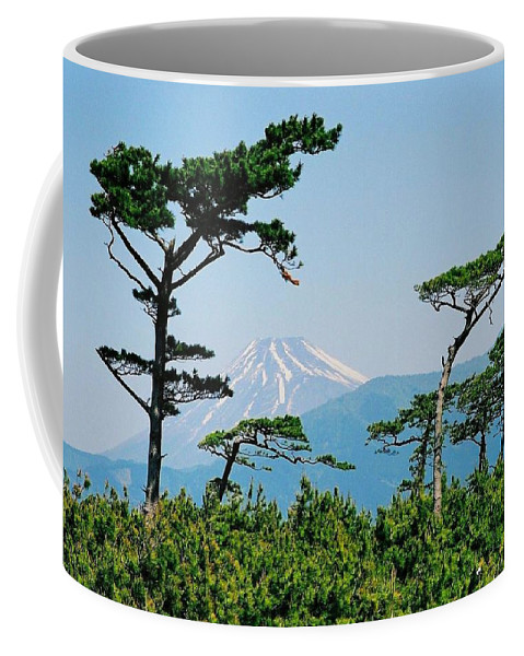 Asia Coffee Mug featuring the photograph Mt. Fuji ... by Juergen Weiss