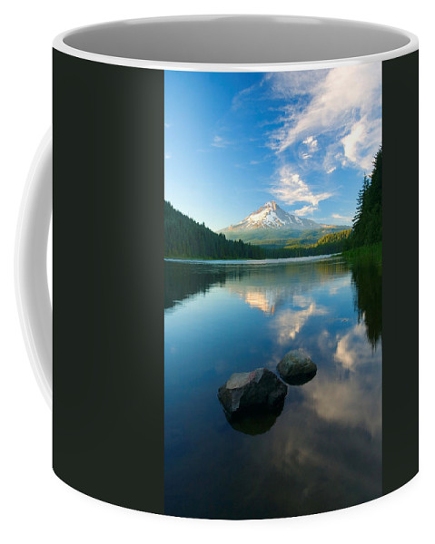 Mt. Hood Coffee Mug featuring the photograph Mt. Hood Cirrus Explosion by Mike Dawson