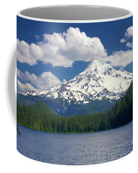 Landscape Coffee Mug featuring the photograph Mt Hood From Lost Lake by Bruce Block