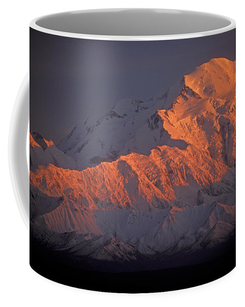 Denali National Park Coffee Mug featuring the photograph Mt. Mckinley Sunset by Sandra Bronstein