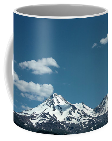 Cloud Coffee Mug featuring the photograph Mt Shasta With Heart-shaped Cloud by Carol Groenen