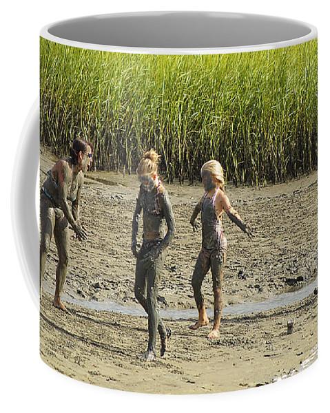 Family Coffee Mug featuring the photograph Mud Bath by Kenneth Albin