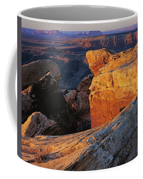 Utah Coffee Mug featuring the photograph Muley Point Sunrise by Tom Daniel