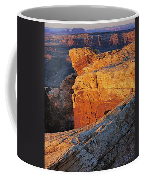 Utah Coffee Mug featuring the photograph Muley Point Sunrise-v by Tom Daniel
