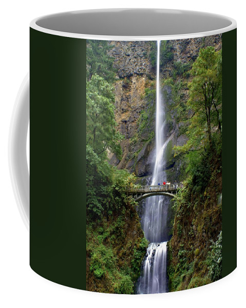 Waterfalls Coffee Mug featuring the photograph Multanomah Falls by Marty Koch