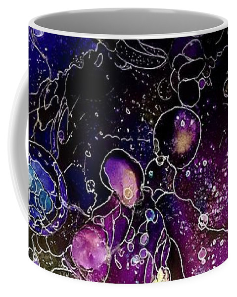 Abstract Coffee Mug featuring the painting Multiverse #2 by Rae Chichilnitsky