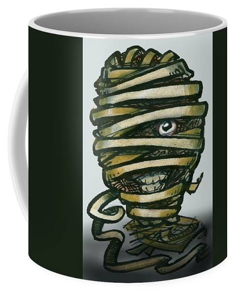 Mummy Coffee Mug featuring the greeting card Mummy by Kevin Middleton