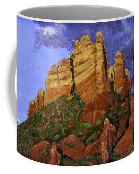 Arizona Coffee Mug featuring the painting Munds Mountain by Jamie Frier