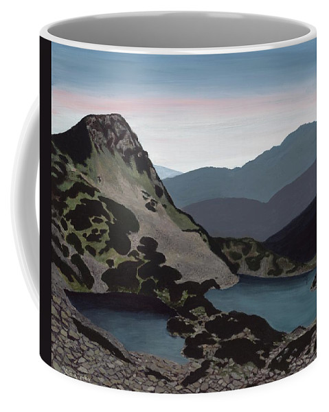 Landscape Coffee Mug featuring the painting Muratova Chuka, Pirin Mountain by Katya Zaimov
