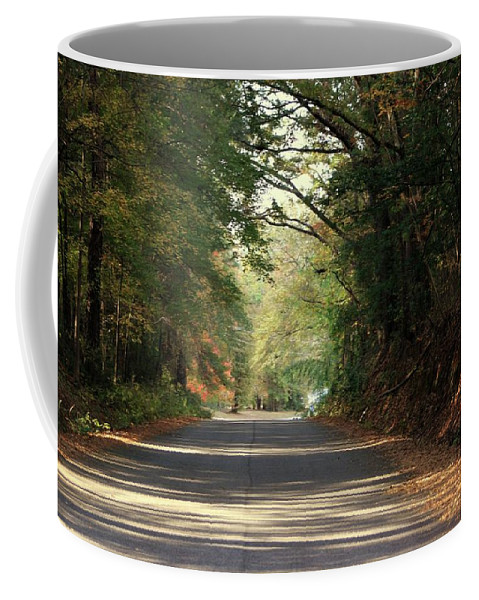 Murphy Mill Road Coffee Mug featuring the photograph Murphy Mill Road by Jerry Battle
