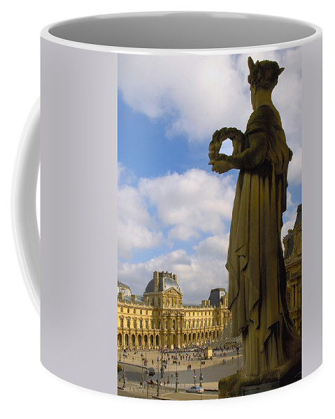 Paris France Coffee Mug featuring the photograph Musee Du Louvre by Mick Burkey