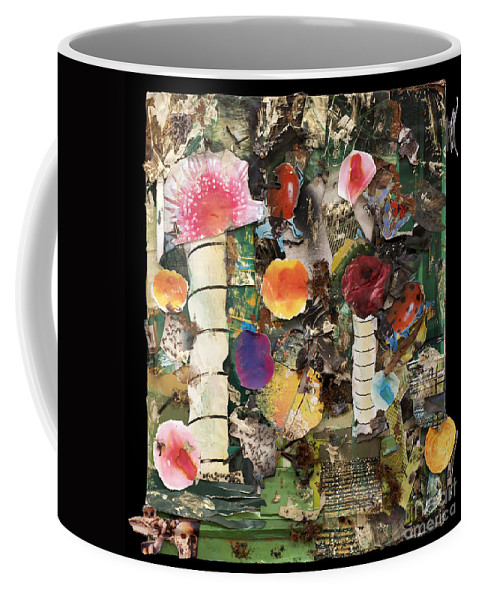 Abstract Coffee Mug featuring the mixed media Mushroom by Jaime Becker