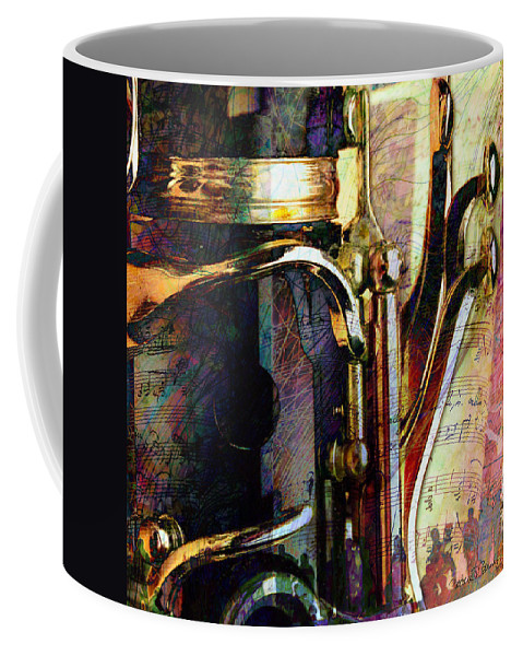 Clarinet Coffee Mug featuring the digital art Music by Barbara Berney