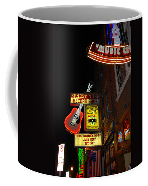 Nashville Coffee Mug featuring the photograph Music City Nashville by Susanne Van Hulst