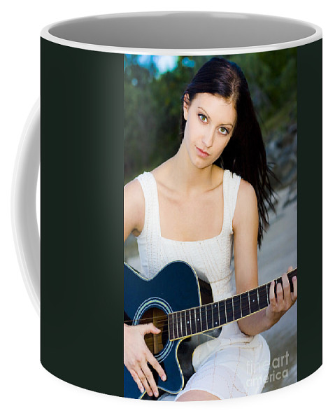 Caucasian Coffee Mug featuring the photograph Music Girl by Jorgo Photography - Wall Art Gallery