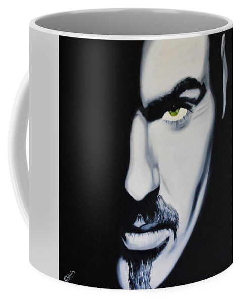 Portrait Celebrity Painting Black And White Icon Music Coffee Mug featuring the painting Music Icon by Richard Garnham