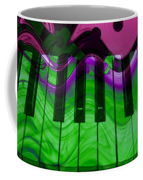 Music In Color Coffee Mug featuring the photograph Music In Color by Linda Sannuti