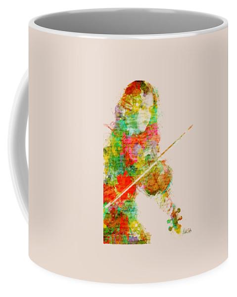 Violin Coffee Mug featuring the digital art Music In My Soul by Nikki Smith