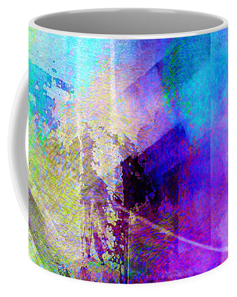 Abstract Art Coffee Mug featuring the digital art Music In The Forest - Abstract Art by Jaison Cianelli