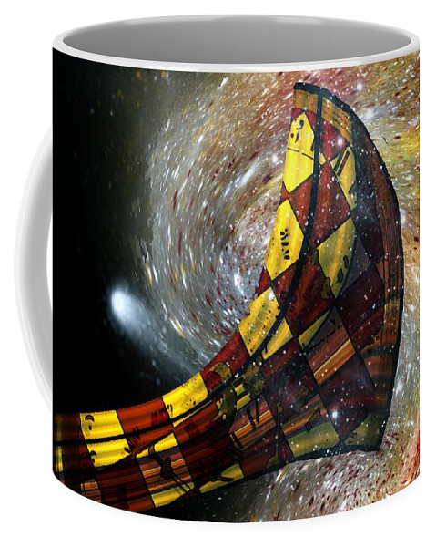 Horn Coffee Mug featuring the painting Music Of The Cosmos by RC DeWinter