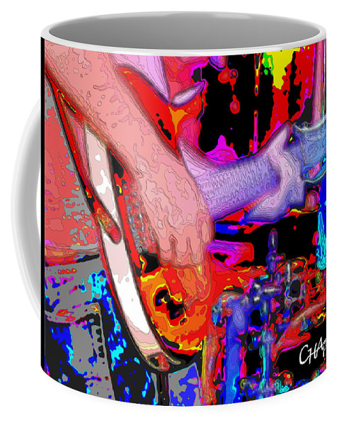 Guitar Coffee Mug featuring the photograph Music Out Of Metal IIia by C H Apperson