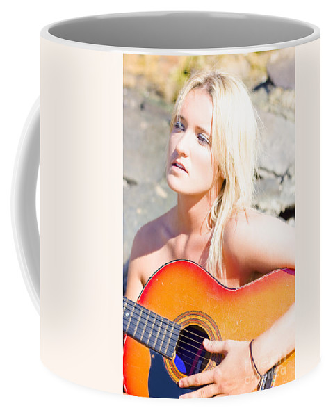 Acoustic Coffee Mug featuring the photograph Music by Jorgo Photography - Wall Art Gallery