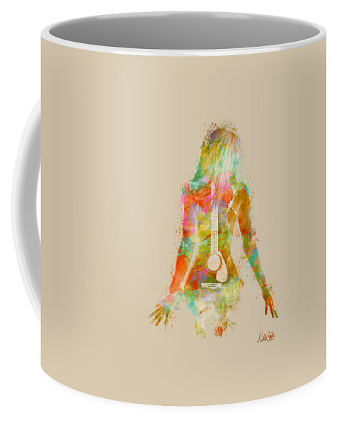 Guitar Coffee Mug featuring the digital art Music Was My First Love by Nikki Marie Smith