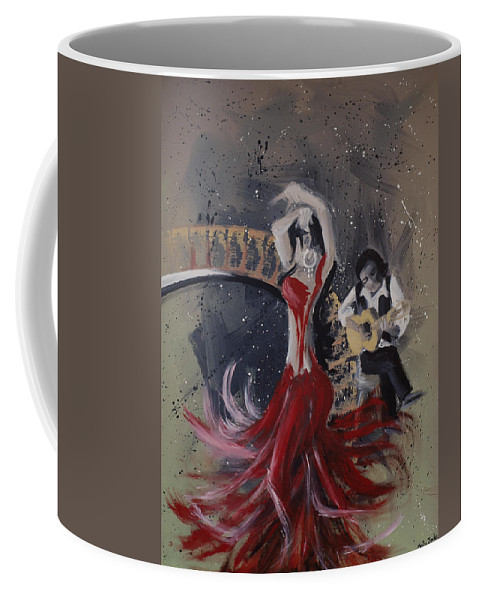 Dance Coffee Mug featuring the painting Musica Espaniol by Kelly Jade King
