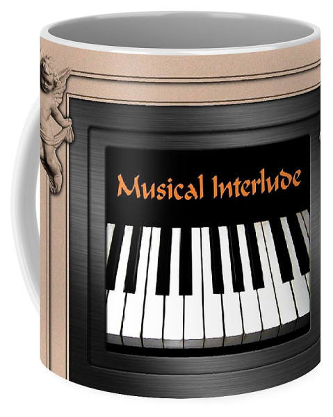 Architecture Coffee Mug featuring the digital art Musical Interlude by Will Borden