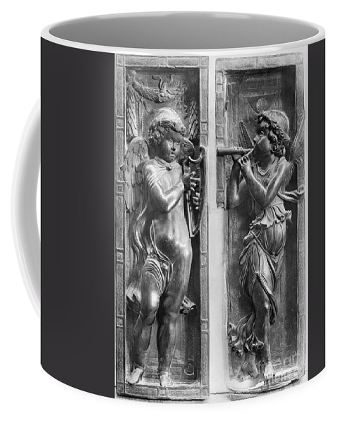 1450 Coffee Mug featuring the painting Musician Angels, C1450 by Granger