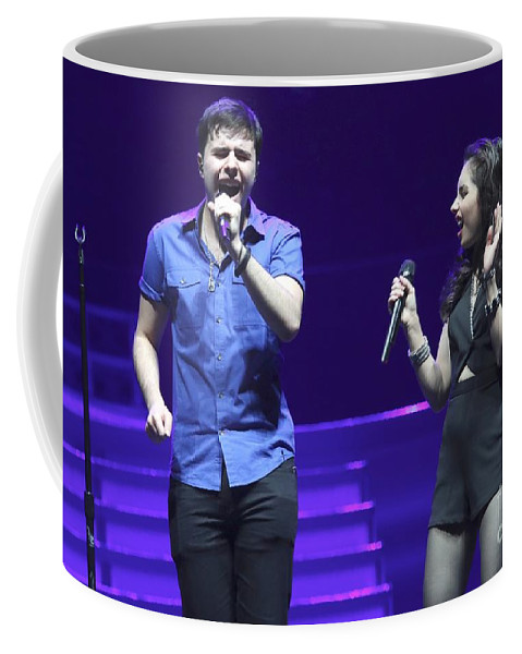Vocals Coffee Mug featuring the photograph Musicians Michael And Marisa by Concert Photos