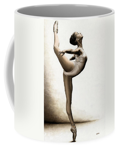 Dance Coffee Mug featuring the painting Musing Dancer by Richard Young