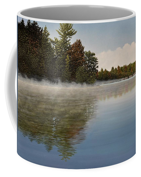 Lakes Coffee Mug featuring the painting Muskoka Morning Mist by Kenneth M Kirsch