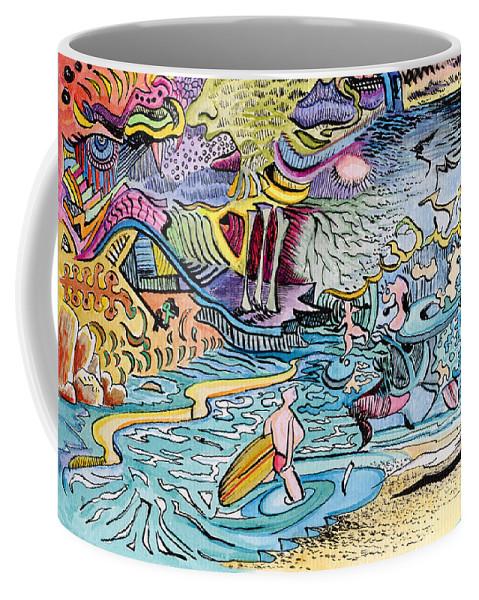 Australia; Joe Michelli; Surreal Watercolor Coffee Mug featuring the painting My Australian Experience by Joe Michelli