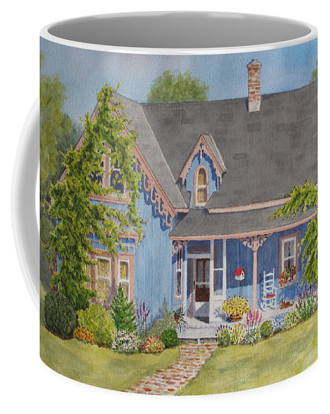 House Coffee Mug featuring the painting My Blue Heaven by Mary Ellen Mueller Legault