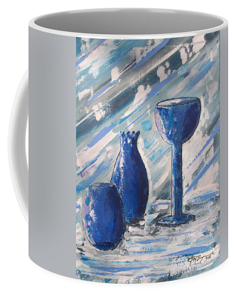 Vases Coffee Mug featuring the painting My Blue Vases by J R Seymour