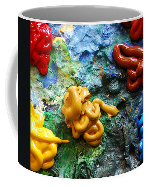 Palette Coffee Mug featuring the photograph My Colorful Palette by Nancy Mueller