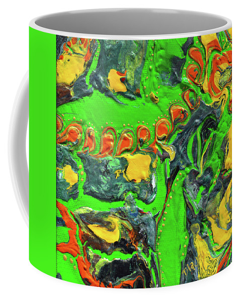 Modern Coffee Mug featuring the painting My Colorful Past by Donna Blackhall