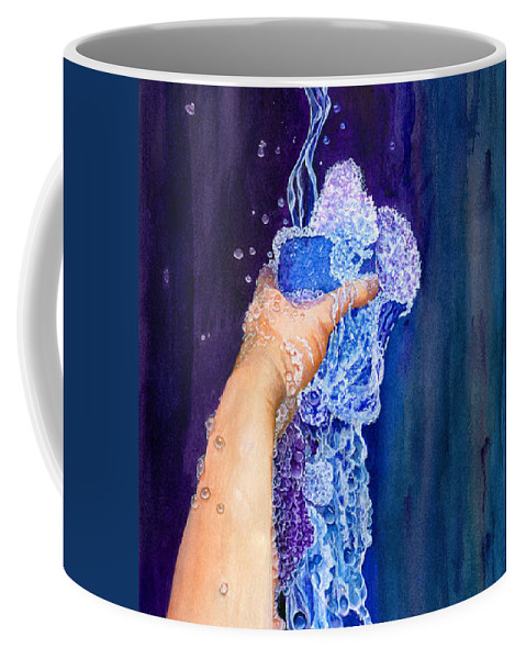 God Coffee Mug featuring the painting My Cup Runneth Over by Nancy Cupp
