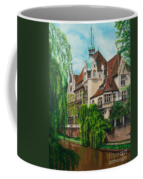 Dream House Coffee Mug featuring the painting My Dream House by Charlotte Blanchard