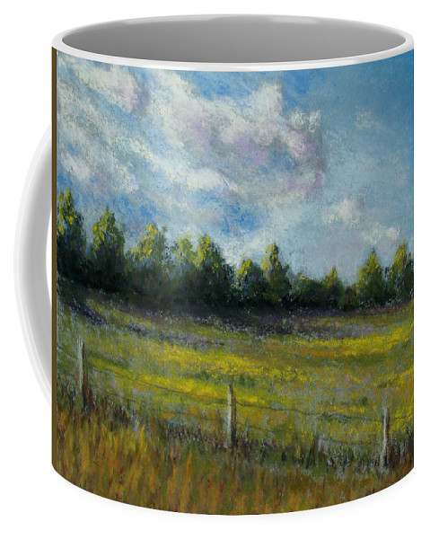 Landscape Coffee Mug featuring the painting My Favorite Field by Susan Jenkins