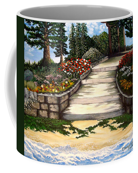 Landscape.pathway Coffee Mug featuring the painting My First Masterpiece by Elizabeth Robinette Tyndall