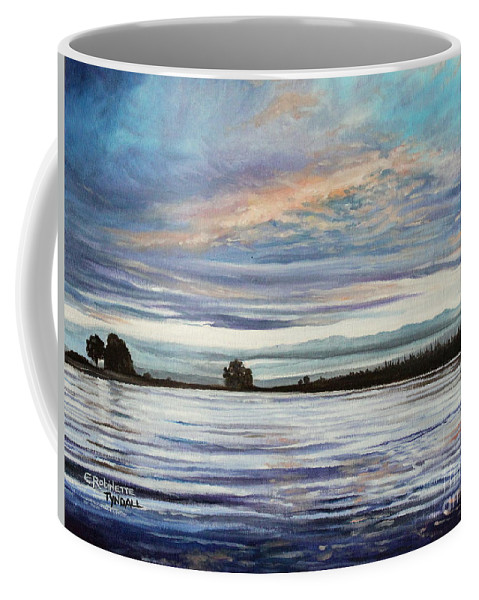 Landscape Coffee Mug featuring the painting My First Sunset by Elizabeth Robinette Tyndall