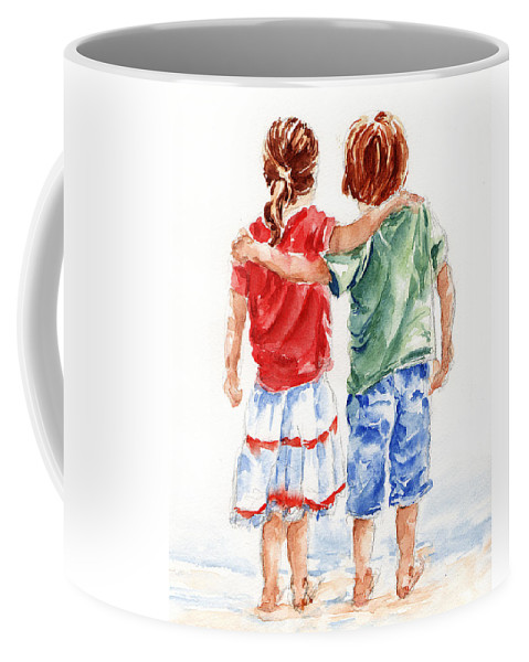 Watercolour Coffee Mug featuring the painting My Friend by Stephie Butler