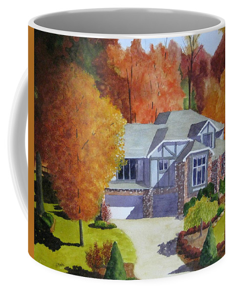House Coffee Mug featuring the painting My Friend's House by Julia RIETZ
