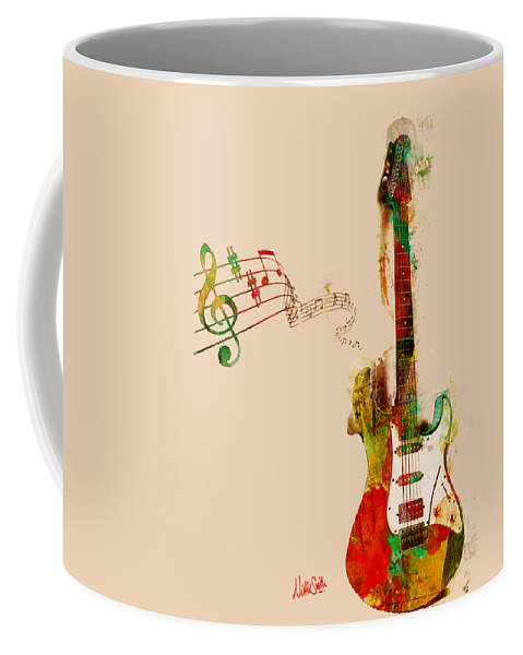 Guitar Coffee Mug featuring the digital art My Guitar Can SING by Nikki Smith